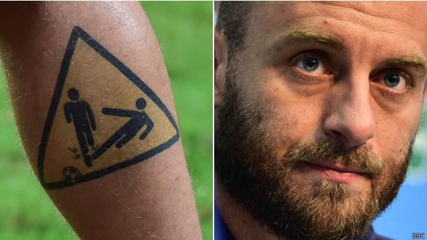 Daniele de Rossi tatuaje