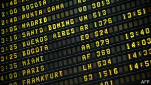 Panel con información de salidas