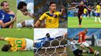 Momentos del Mundial Brasil 2014 (de izq. a der. fotos de: AFP, Getty, Getty, PA, Reuters, AFP)