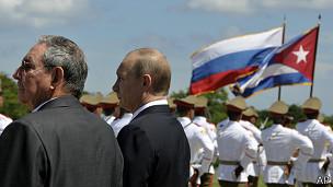 Putin y Raúl Castro