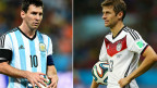 Messi, da Argentina, e Muller, da Alemanha, finalistas de domingo