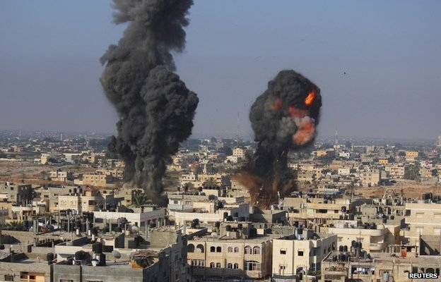 Ataques aéreos sobre Gaza