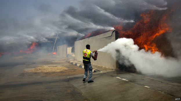 Пожарный в Палестине