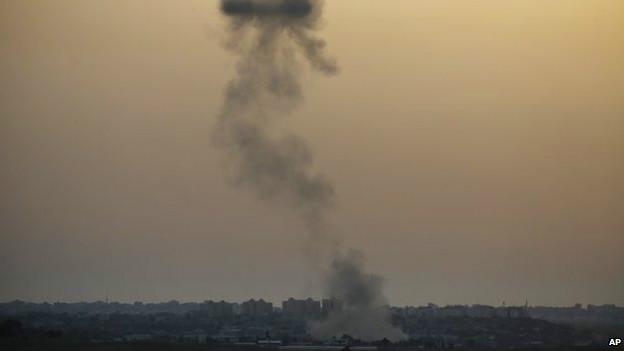 Авиаудар в Газе