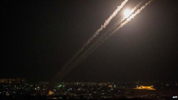 Палестинские ракеты, запущенные из Газы