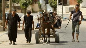Wapalestina wahama Gaza kaskazini