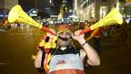 Torcedor alemão festeja vitória na Copa do Mundo   Crédito: AFP