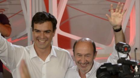 Pedro Sánchez y Alfredo Pérez Rubalcaba