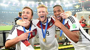 Alemania celebra el título del Mundial