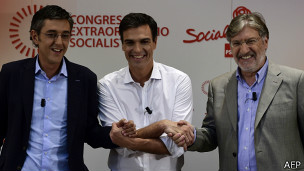 Eduardo Madina, Pedro Sánchez, José A. Pérez Tapias