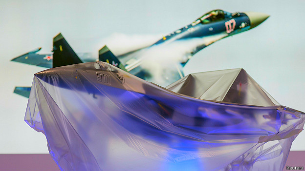 Макет самолета Су-35