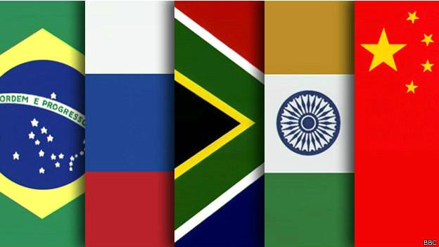 Banderas de los países del Brics