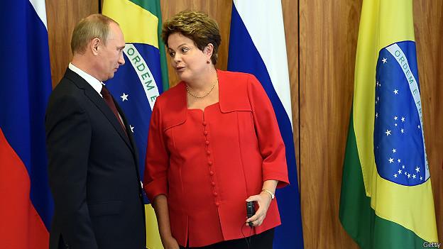 Vladimir Putin y Dilma Rousseff