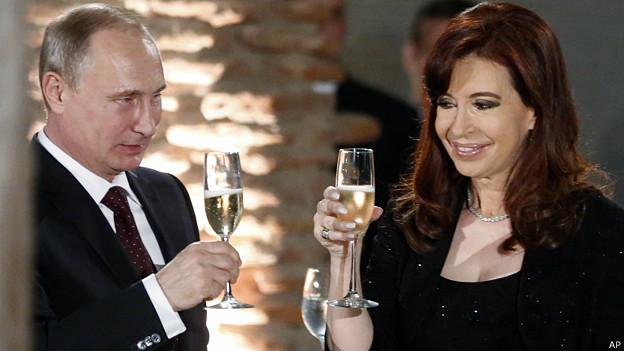 Vladimir Putin y Cristina Kirchner
