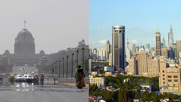 Nueva Delhi y Shanghái