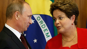Dilma Rousseff y Vladimir Putin