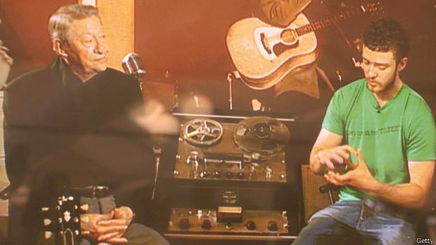 В студии Sun Studios - Скотти Мур и Джастин Тимберлейк