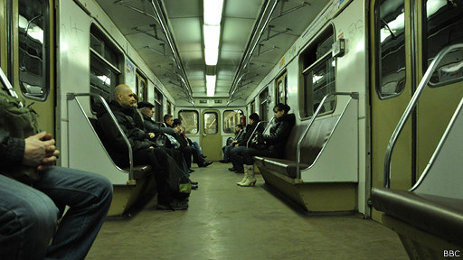 Passengers in the subway