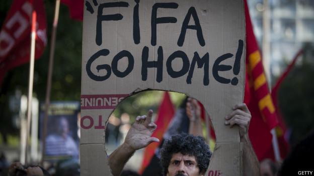 Protesto no Rio no último dia da Copa (Getty)