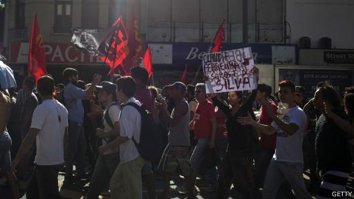 Protestos anti-governo no último dia da Copa (Getty)