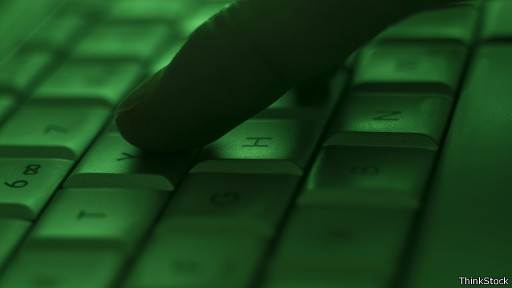 Dedo no teclado (ThinkStock)