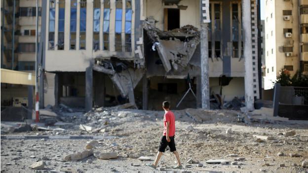 Edificio admnistrativo del gobierno de Hamas en Gaza