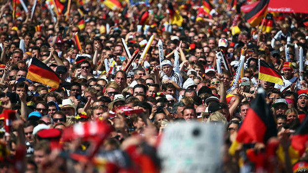 alemanes celebrando