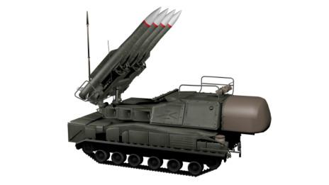 Sistema Buk de misiles tierra-aire.