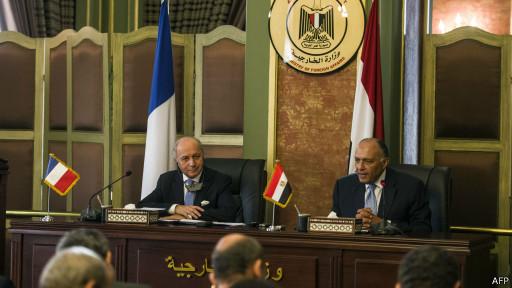 Líderes do Egito (AFP)