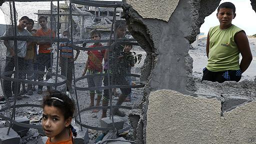 Crianças em Gaza (AP)