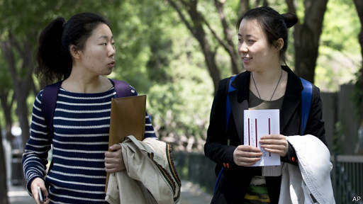 Jovenes universitarias en Pekin