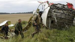 Destroços do avião (AP)