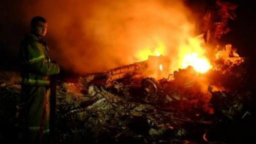 الطائرة الماليزية سقطت شرقي أوكرانيا