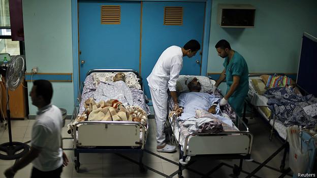 Hospital em Gaza (Reuters)