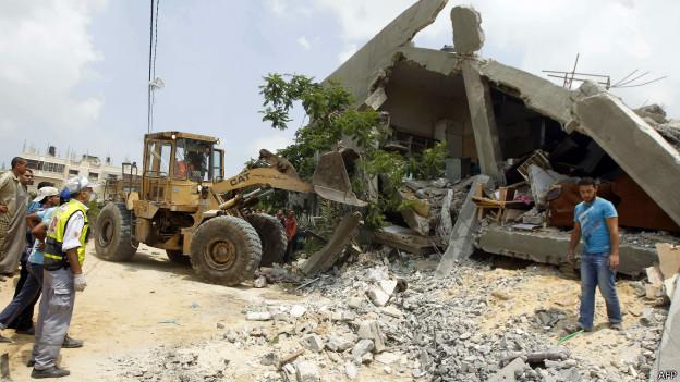prédio destruído em Gaza | AFP