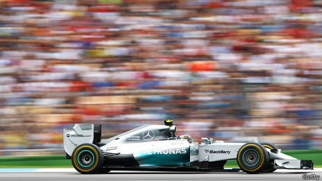 Rosberg en su Mercedes
