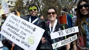 Manifestación pro legalización de la marihuana en Chile
