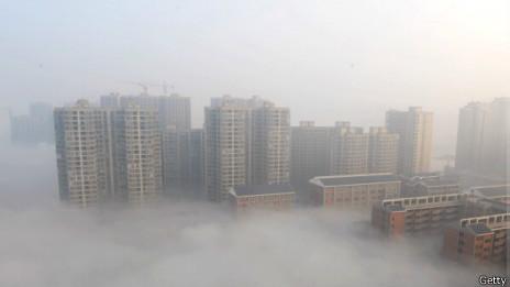 Esmog en Pekín.