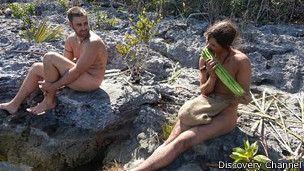 "Escena de ""Naked and Afraid"""