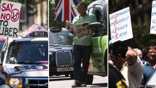 Protestos contra o Uber no mundo (Getty/Reuters)