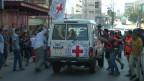 carro da Cruz Vermelha sob ataque em Gaza   BBC