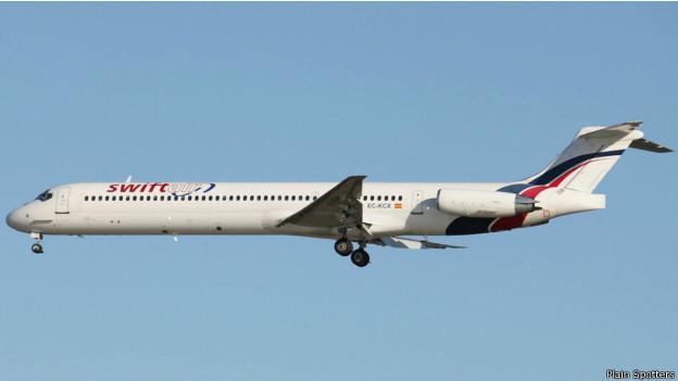Aparato similar al avión argelino desaparecido.