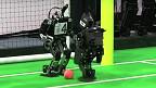 Robots jugando fútbo