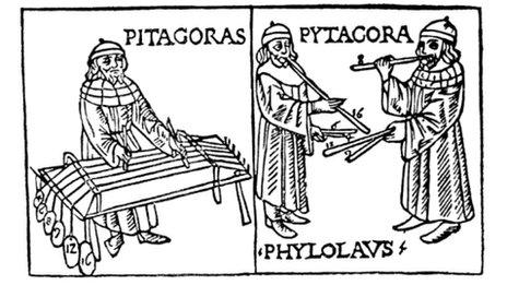 Dibujo de Pitágoras