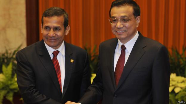 Ollanta Humala y el primer minstro chino Li Keqiang