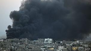 Humo en Gaza