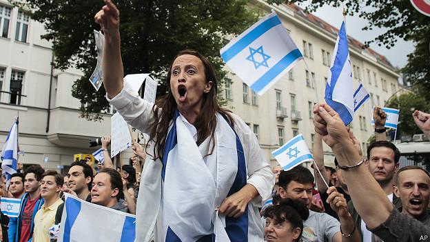 Manifestación proisraelí en Berlín