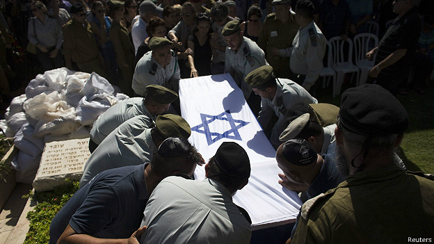 Funeral del soldado israelí Yair Ashkenazy en Rehovot