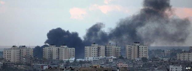 Ataque aéreo en el campo de refugiados de Jabalia