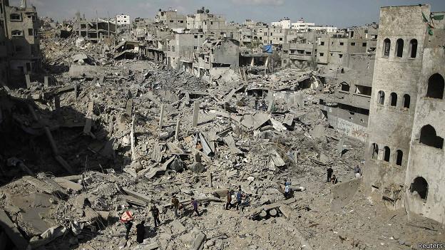 Escenas de destrucción en Gaza